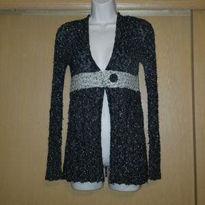 BKE Cardigan Black & Grey - Large